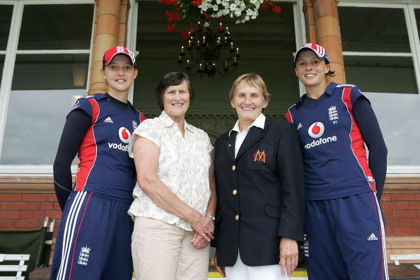 Enid Bakewell & Lynne Thomas with Sarah Taylor and Caroline Atkins in 2008