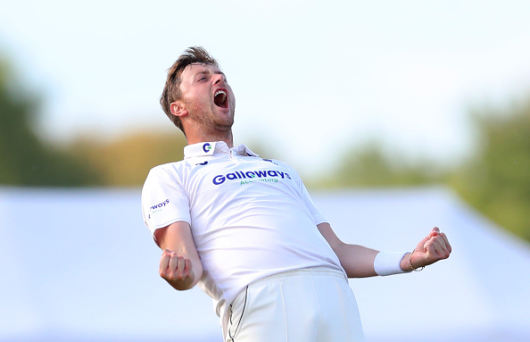 Ollie celebrates another wicket