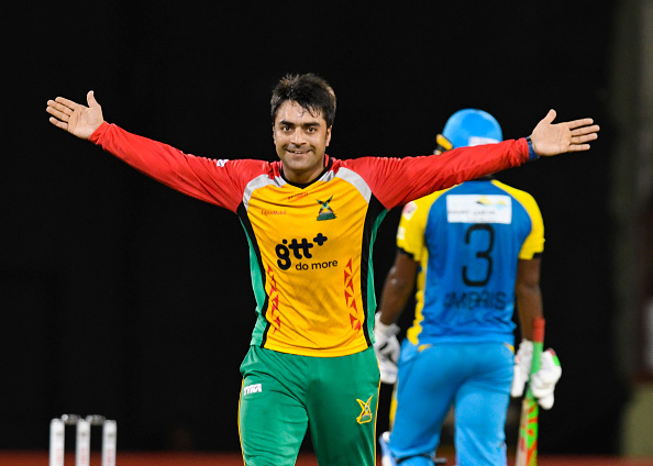 Rashid in action the CPL